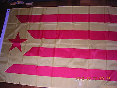 Flag of Catalonia Catalan independentism Red Star Spain Barcelona Ensign 3X5ft
