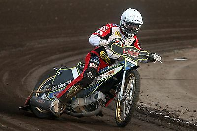 Belle Vue Aces----Max Fricke-----2017-----10X8----Speedway----Action Photo