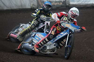 Belle Vue Aces----Steve Worrall-----2017-----10X8----Speedway----Action Photo