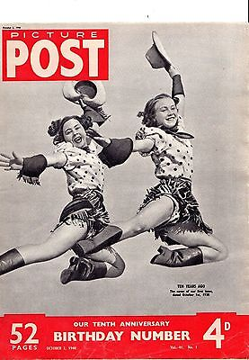 PICTURE POST (2 October 1948) - 10th ANNIVERSARY ISSUE - TOM HOPKINSON & HULTON