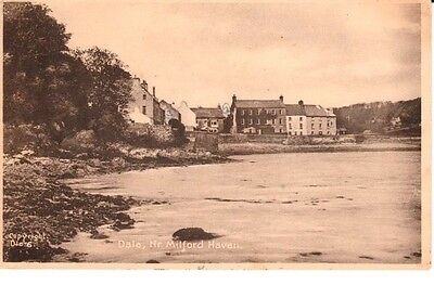 1943 DALE VILLAGE Nr. Milford Haven - river, houses, Frith's Series