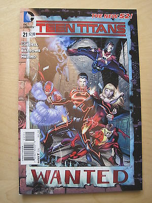 TEEN TITANS  # 21  by LOBDELL & BARROWS.    THE NEW 52 !     DC.  2013