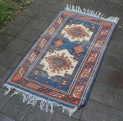 Antiker DAGESTAN KUBA Gebetsteppich Kaukasus um 1920 antique prayer mat carpet