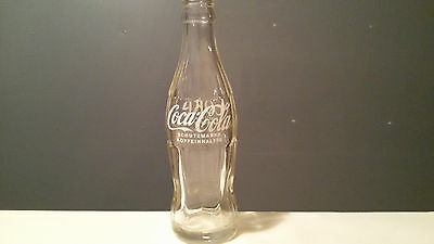 1x Old Coca Cola Company Germany 0,2L Empty Glass Bottle Collect Sammeln alt