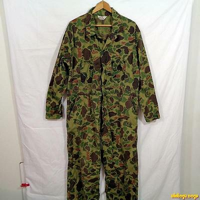 DUXBAK Woodland Camouflage Hunting Cotton COVERALLS Mens Size XL