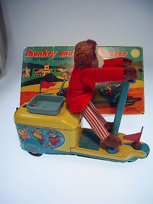 """""""MONKEY AND SCOOTER"""" LINEMAR JAPAN, 22cm, BO OK !, SEHR GUT/VERY GOOD, REPROBOX"""