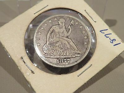 1887 SEATED LIBERTY SILVER HALF DOLLAR -Decent- FREE SHIPPING!!