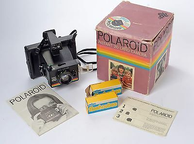 Polaroid Instant 20 Land Camera - Boxed & instructions with 6 Flashcubes