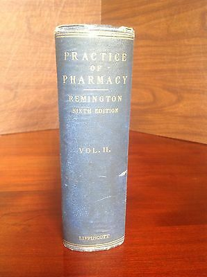 Rare 100 Year Old Remington Practice Of Pharmacy