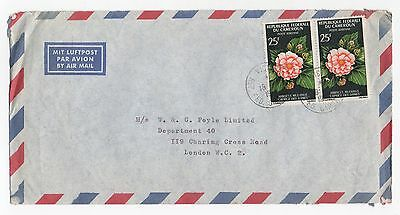 1967 CAMEROON Air Mail Cover VICTORIA (LIMBE) To LONDON GB Foyle Ltd