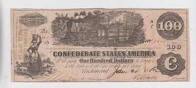 Confederate Currency Civil War era item  one old note fine-vf stains