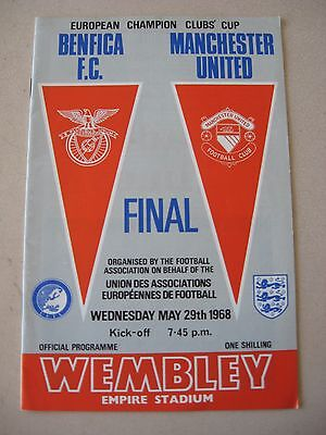 1968 European Cup Final Benfica v Manchester United 29.5.1968 @ Wembley