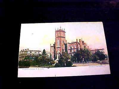 Normal College, New York City Postcard With Tinsel Trim