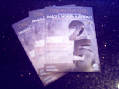 """DREAM THEATER - """"IMAGES, WORDS & BEYOND"""" TOUR 2017 (3 x PROMO SHOW FLYERS)"""