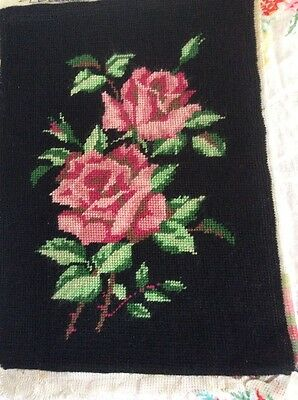 Vintage Completed Margot Tapestry Of Roses.