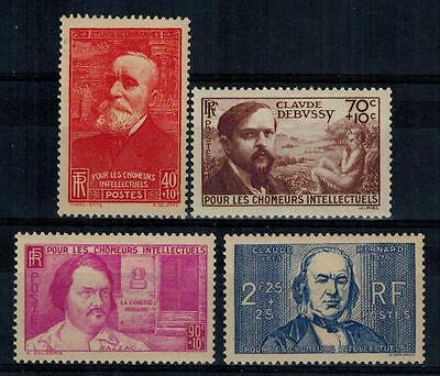 timbres France n° 436/439 neufs** année 1939