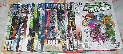 green lantern, new guardians, new 52, issues 0 - 25, dc comics, bundle, used