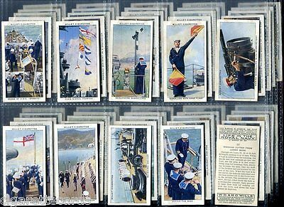 Tobacco Card Set, WD & HO Wills, LIFE IN THE ROYAL NAVY, Naval Life, 1939