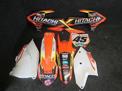 KTM SX/SXF 125-450 2016-2017 Used orange/white plastics + team graphics UPK1542