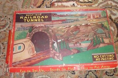 Vintage Built-Rite Railroad Tunnel Cardboard for Train Layout