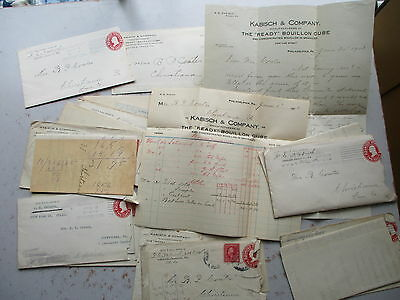 1913 Correspondence Lot From Kabisch & Company, Phila., Ready Bouillon Cubes