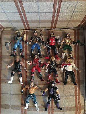 Wwf Jakks S.t.o.m.p & Bone Crunching Action Figures