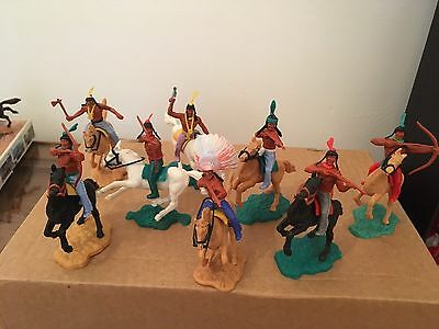 Vintage Timpo Mounted Indians