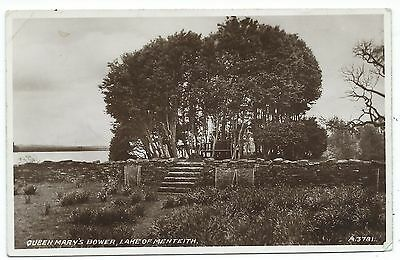 SCOTLAND - QUEEN MARY'S BOWER, LAKE of MENTEITH Real Photo Postcard