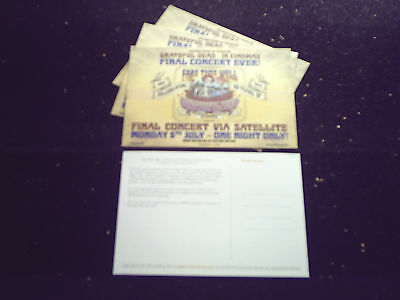 "GRATEFUL DEAD - ""FARE THEE WELL"" 6/7/2015 VIA SATELLITE (4 x PROMO POSTCARDS)"