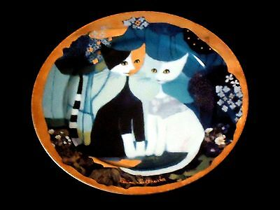 R. WACHTMEISTER BEAUTIFUL HAND PAINTED COASTER MICIO E MICIA CATS by GOEBEL