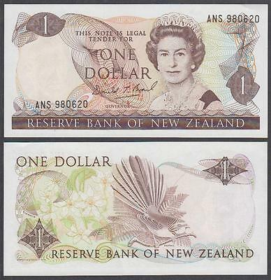 ND (1985-89) Reserve Bank of New Zealand 1 Dollar (XF+)