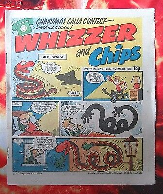Whizzer And Chips Comic. 26 November 1983 Unread/unsold Newsagents Stock. Nrmint
