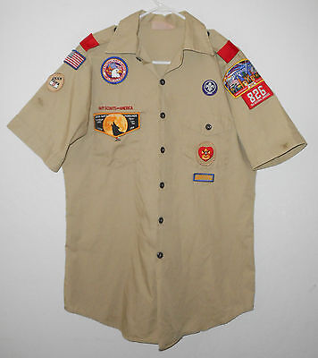 BOY SCOUTS Of America UNIFORM Shirt # 826 ADULT Scout Patches USA Mens : MD