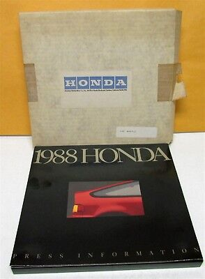 1988 Honda Press Kit Custom Box Civic CRX Accord Prelude Color Selector Photos