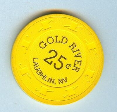 Obsolete & Tough 1991 Gold River Casino $.25 Chip - Nice Shape!!!