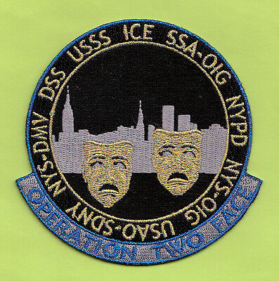 R15 * Gman Ice Op Two Face Ins Ny Dhs Ice Usbp Federal Agency Fbi Police Patch