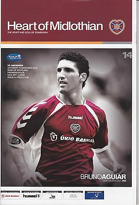 Heart of Midlothian Home programmes Season 2006/2007