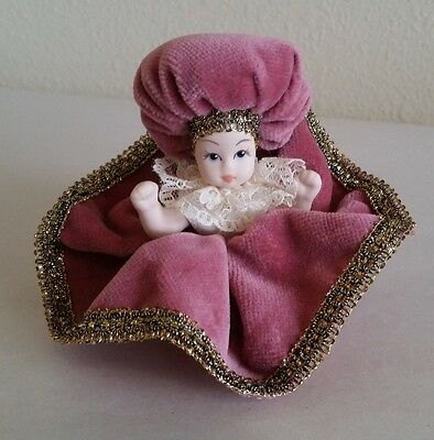 Vintage Small Bisque Porcelain Doll Made in Italy