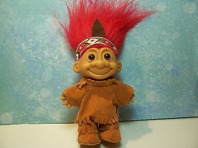 "NATIVE AMERICAN INDIAN - 5"" Russ Troll Doll - NEW IN ORIGINAL WRAPPER"