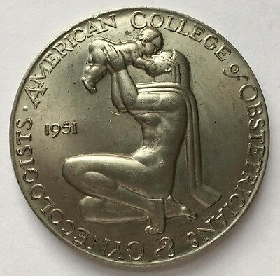 1970 American College of Obstetricians & Gynecologists, Medical Medal, Art Deco