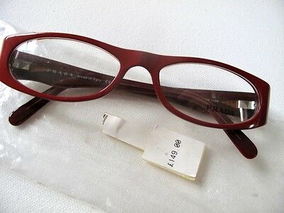 £149 NEW Womens PRADA VPR 08G Optical Glasses Frames Red Black Designer Italy