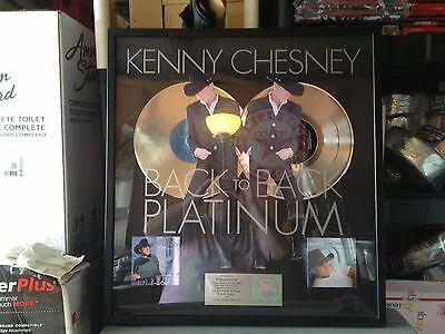 Kenny Chesney Back To Back Platinum Album Riaa Award