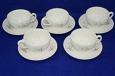 """Syracuse Finesse Carefree (5) Cups, 2 3/8"""" and (5) Saucers, 5 7/8"""" (lot #2)"""