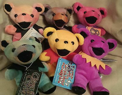 LOT OF 6 GRATEFUL DEAD BEANIE BEARS Cassidy St Stephen Surgaree Jack Straw MORE
