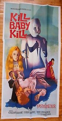 Kill Baby Kill inernational 3-sheet movie poster Mario Bava Italian horror