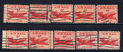 United States #C39(1) 1949 6 cent Airmail - DC-4 Skymaster Plane Used