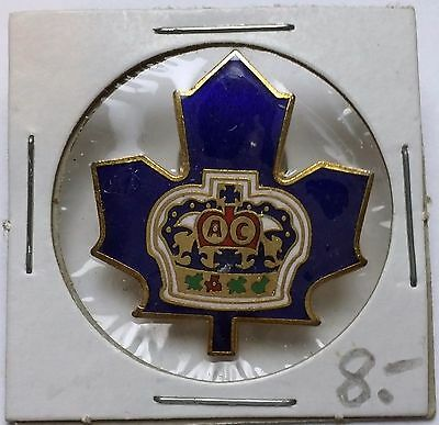 Vintage UFC 1988 Blue Maple Leaf Crown Lapel Pin / Badge - Free Combined S/H