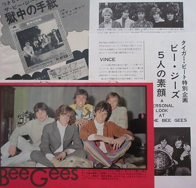Bee Gees Barry Gibb Robin Maurice 1968 Clipping Japan Magazine U1 V16 5Page