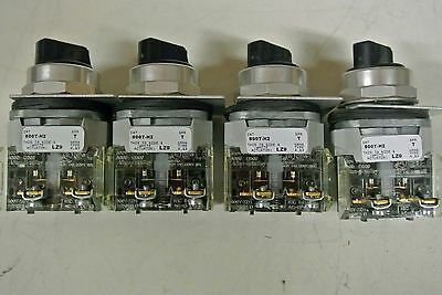 Lot Of 4 Ab Allen Bradley 800T-H2 Ser T 4.13 Lz9 2 Position Switch-Good
