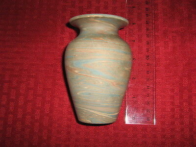 "Niloak Mission Swirl/ware 4 1/2 "" Cabinet Vase Arts And Crafts Pottery"